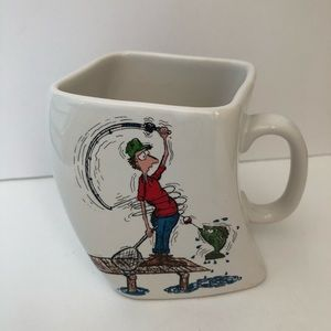 Vintage 1992 Fishing Coffee Mug by Golf Gifts